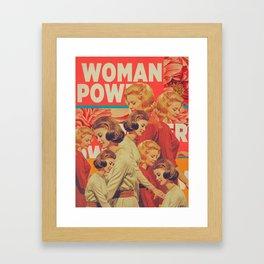 Woman Power Framed Art Print