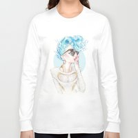 sydney Long Sleeve T-shirts featuring Sydney Teal by Daniel Fernández