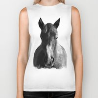 horse Biker Tanks featuring Horse by Amy Hamilton