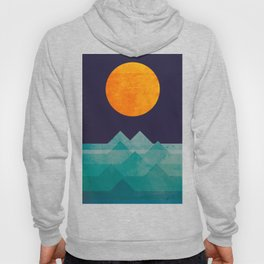 The ocean, the sea, the wave - night scene Hoody