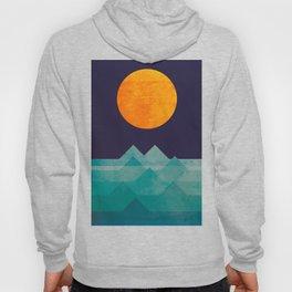 The ocean, the sea, the wave - night scene Hoody