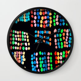 Colored dots Wall Clock