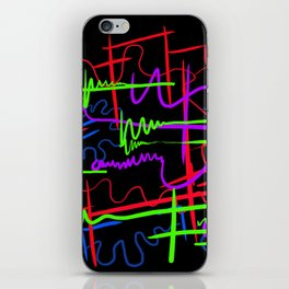 abstract neon splash iPhone Skin