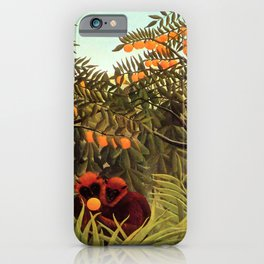 "Henri Rousseau ""Apes in the Orange Grove"" iPhone Case"