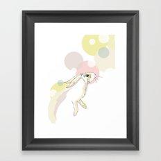 Jumping Hare Framed Art Print
