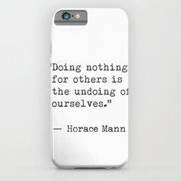 Horace Mann iPhone Case