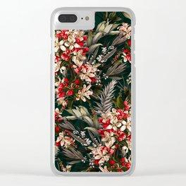 Midnight Garden XI Clear iPhone Case