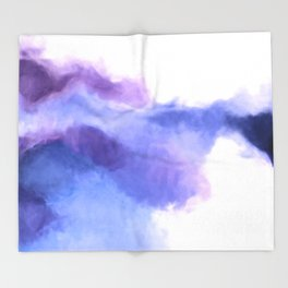 Purple Sky, White Light - abstract Throw Blanket