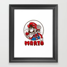 creepy mario Framed Art Print