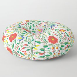 Hungarian Matyo Embroidery Floor Pillow