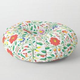 Hungarian Matyo Embroidery Floor Pillow