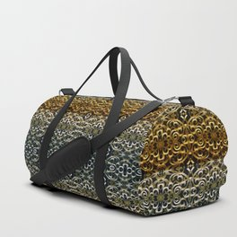 Floral Wrought Iron G267 Duffle Bag