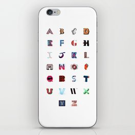 Illustrated Letters - Set One iPhone Skin