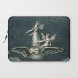 """Faeries Riding On an Owl"" by Amelia Jane Murray Laptop Sleeve"