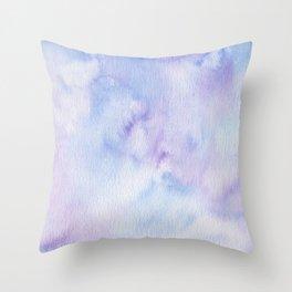 Mermaid Vibes - Purple Blue Ocean Splash Throw Pillow