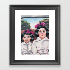 Ela and Bella. Framed Art Print