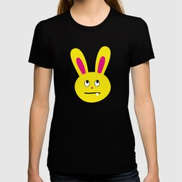 One Tooth Rabbit Emoticons Bunny Face with Rolling Eyes T-shirt