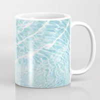 pool Mugs featuring Pool by Claire Jantzen