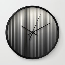 Soft Industrial Cream and Black Blended Random Vertical Lines Wall Clock