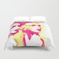 faces Duvet Covers featuring Faces by Paola Rassu