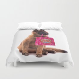 Birthday dog Duvet Cover