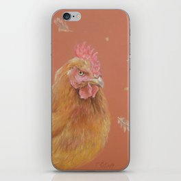 ROOSTER and HEN Farm animals Domestic birds illustration iPhone Skin