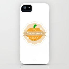 PUMPKIN SEASON iPhone Case