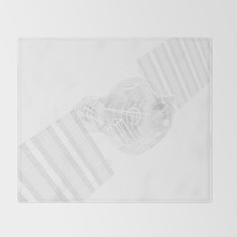 Explorer White and Grey Throw Blanket