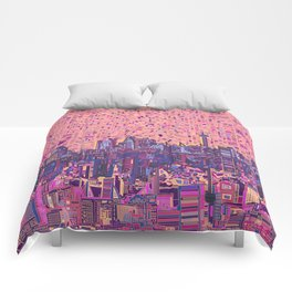 san antonio city skyline abstract 5 Comforters