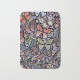 butterflies galore grunge version Bath Mat