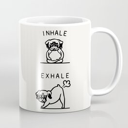 Inhale Exhale Boxer Coffee Mug