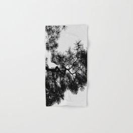 Pine Tree Black & White Hand & Bath Towel