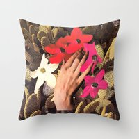 oasis Throw Pillows featuring OASIS by Beth Hoeckel