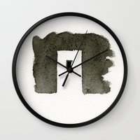 greece Wall Clocks featuring Greece by Paul Stickland for StrangeStore