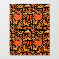 Pumpkin Pattern Canvas Print