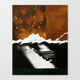 Music Triptych: Piano Canvas Print