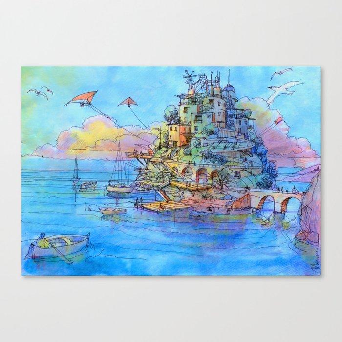 Paesaggio di fantasia Canvas Print