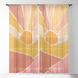 Wonderful Sunset Boho Sheer Curtain