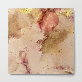 Abstract Watercolor Paint Swashes Decorative Metal Print