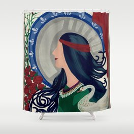 The High Priestess Shower Curtain