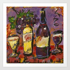 Wine Party  Art Print