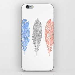 Patterned Plumes iPhone Skin