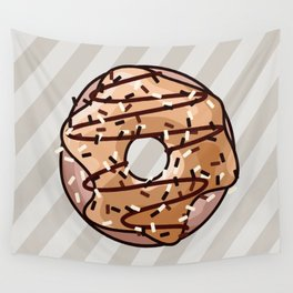 Toffee and Chocolate Donut Wall Tapestry