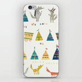 Wolf Pattern iPhone Skin