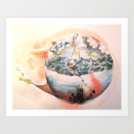 Storm in a Bubble Art Print
