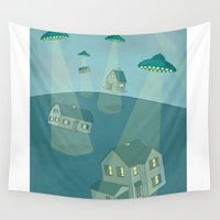 ufo Wall Tapestries featuring UFO by Banessa Millet