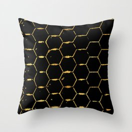 golden beehive Throw Pillow