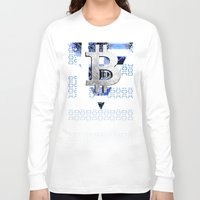 greece Long Sleeve T-shirts featuring bitcoin Greece by seb mcnulty