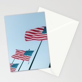 United States Star spangled banner national flag half-mast on September 11 | USA Travel photography Stationery Cards