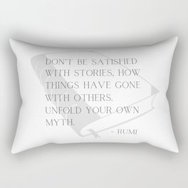 Unfold Your Own Myth - Rumi Typography Rectangular Pillow